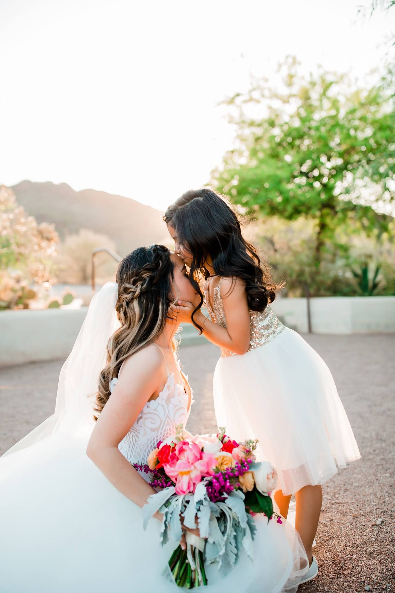 aa69910f5e205 Sweet Bride and Daughter Special Moment / Mother and Daughter Wedding  Photos #weddingphotography by Brandy Britton Photography