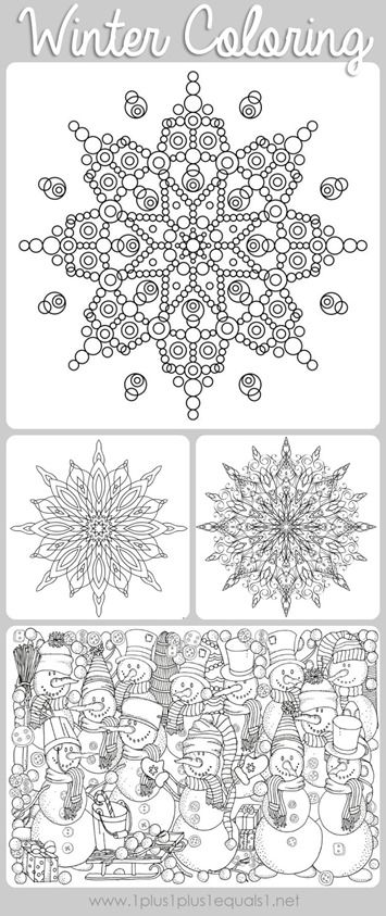 Winter Doodle Coloring Pages Free Printables Featuring Snowmen Snowflakes And Adorable Scenes Great For Kids Or Adults To Color
