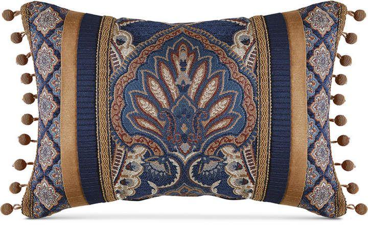 Croscill Aurelio Bedding Collection Reviews Bedding Collections Bed Bath Macy S Blue Pillows Decorative Boudoir Pillow Throw Pillows