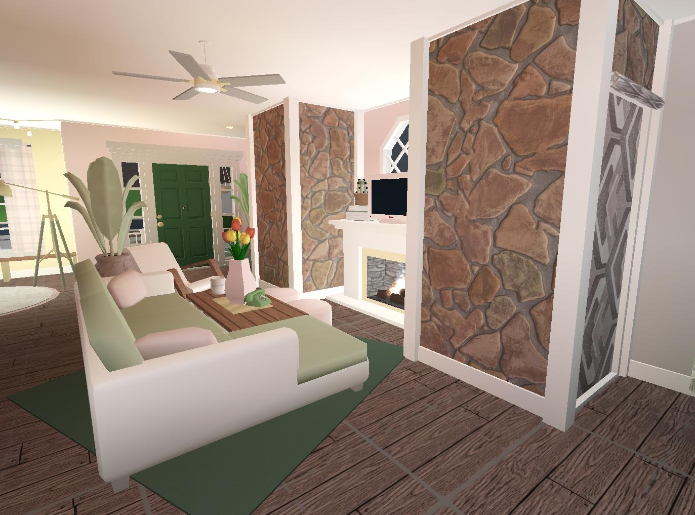 Pastel Green Pink Aesthetic Bloxburg Living Space Sage Green Living Room Sage Living Room Pastel House