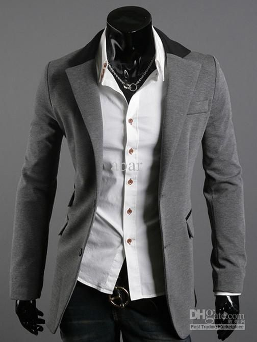 Details about Mens Casual & Dress Slim Fit One Button Blazer Suit ...