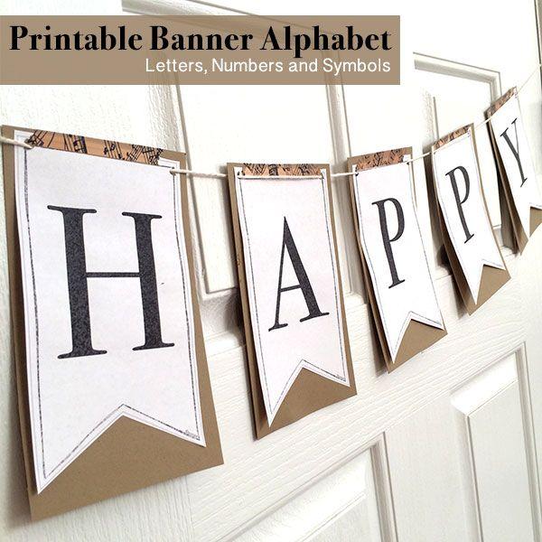 Printable Full Alphabet for Banners Pinterest Best Printable