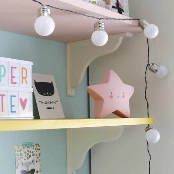 Guirnalda De Luces Blancas Led Decorativas A Pilas Vintastic Shop Tu Tienda Guirnalda De Luces Decoracion Para Niños Decoracion De Interiores
