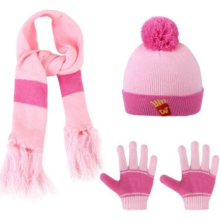 Buy Kids Winter Hat-Allcaca 3 Pieces set Baby Girls Boys Winter Hat Set  Scarf Kids Knitted Hat Scarf Gloves for Kids at Walmart.com edb8c749f4b