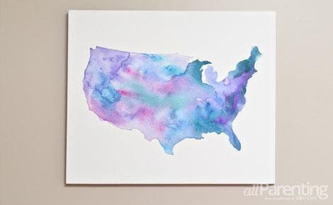5 Ways To Decorate With Your State Map Painting Map Art