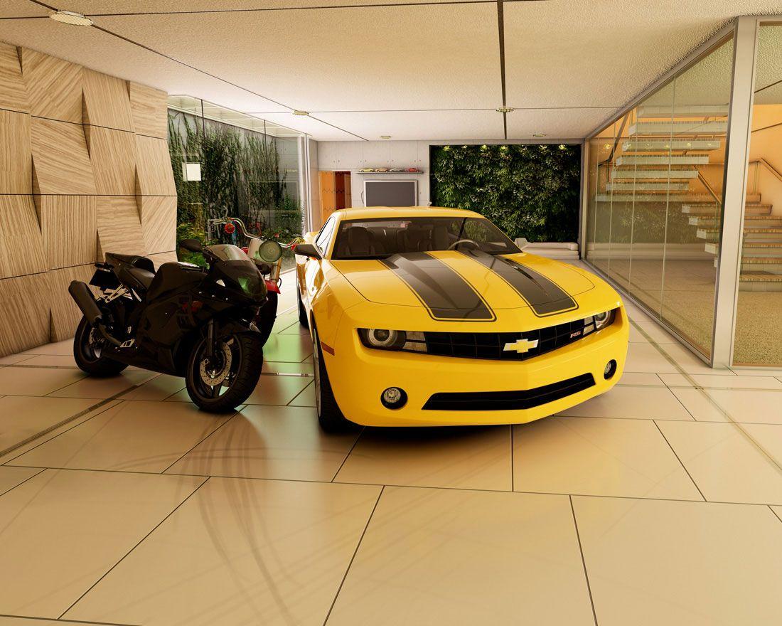 Modernes garagen design f r minimalistisches haus garage for Minimalistisches haus