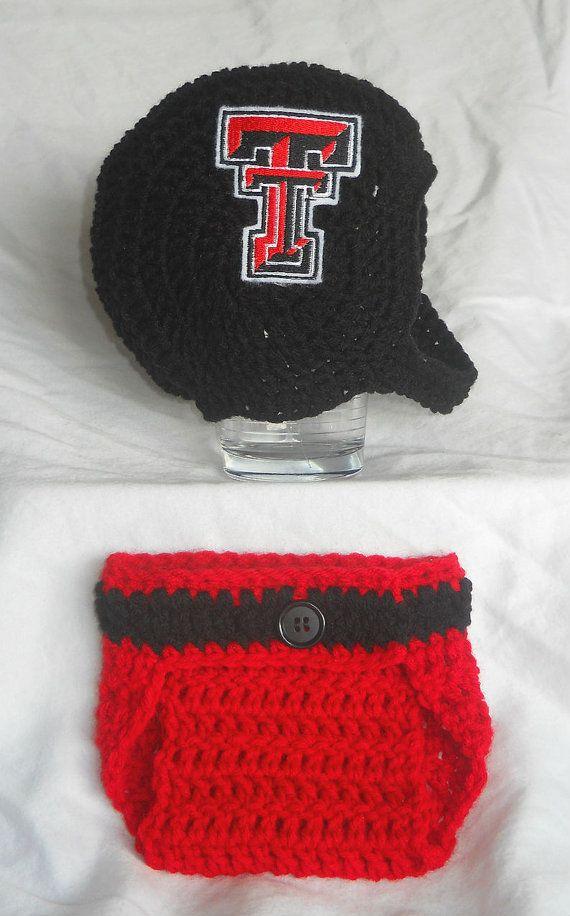 Texas Tech Red Raiders Inspired Crochet Baby Football by CDBSTUDIO, $41.99