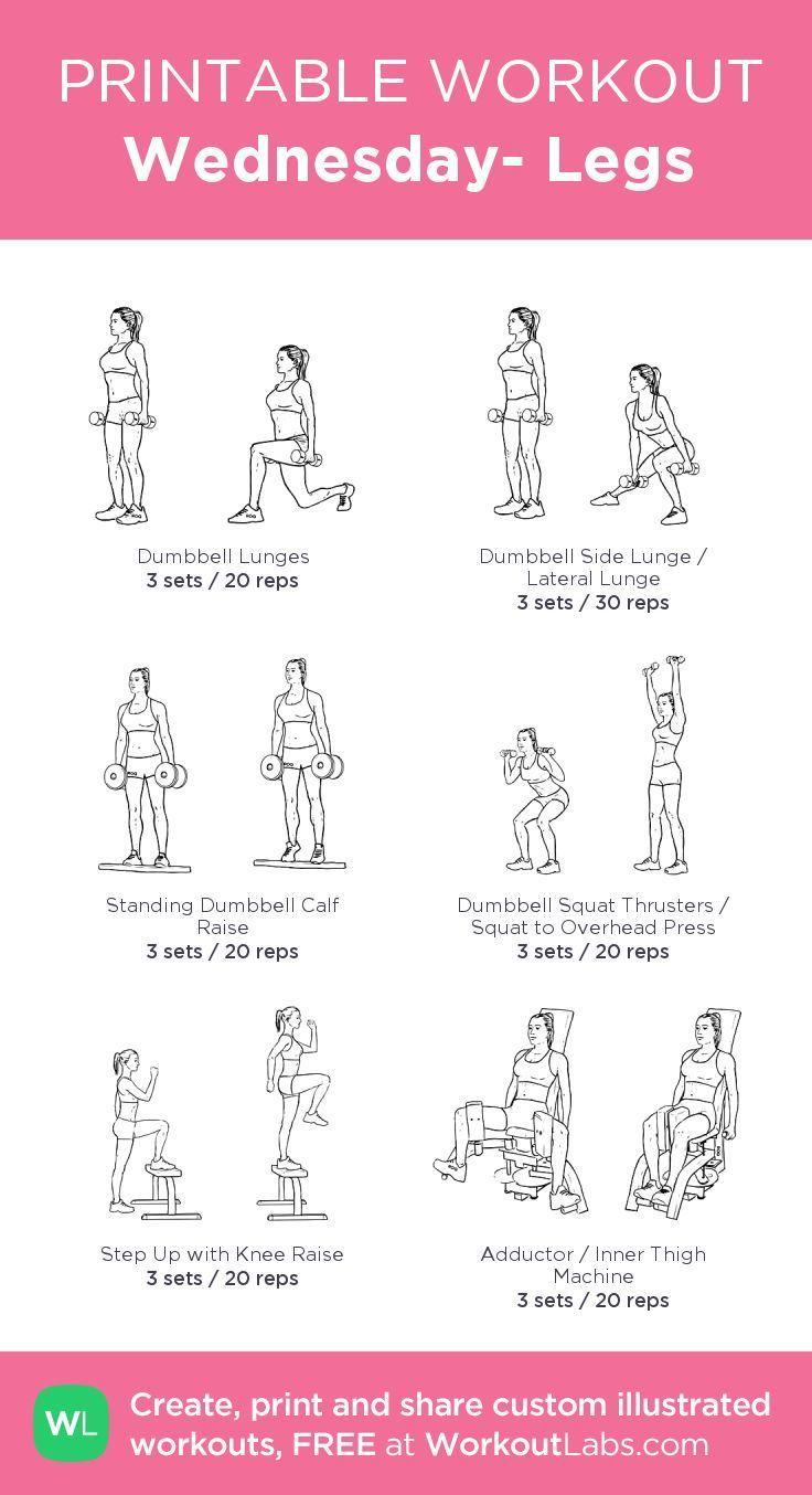 Wednesday- Legs: mein visuelles Workout bei WorkoutLabs.com • Klicken Sie sich