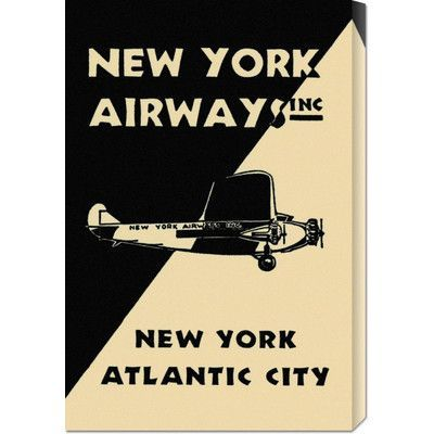 Global Gallery 'New York Airways Inc' by Retro Travel Vintage Advertisement on Wrapped Canvas