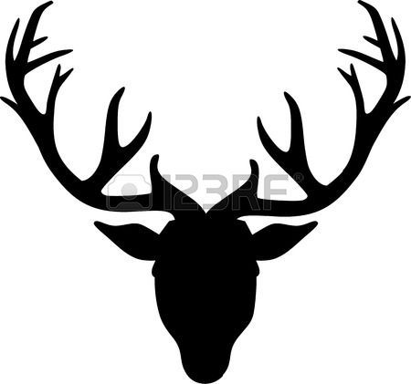 tete de cerf deer head ic ne illustration deco chambre pinterest t te de cerf cerf et. Black Bedroom Furniture Sets. Home Design Ideas