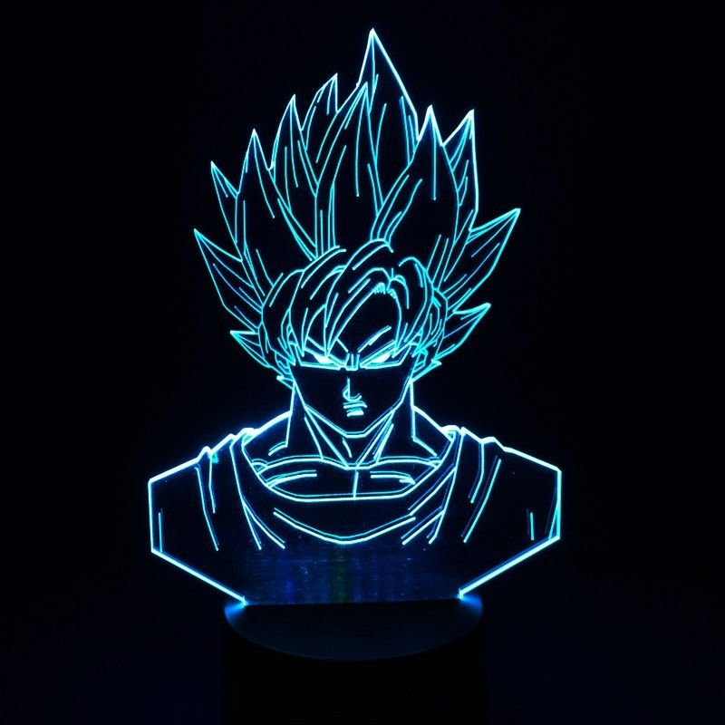 Dragon Ball Z Super Saiyan God Goku 3d Table Lamp By Fandom Express Super Saiyan 3 Images Wallpaper Dragones