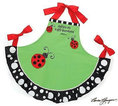 Adorable Ladybug Kitchen Apron for Mothers and Moms Great Gift