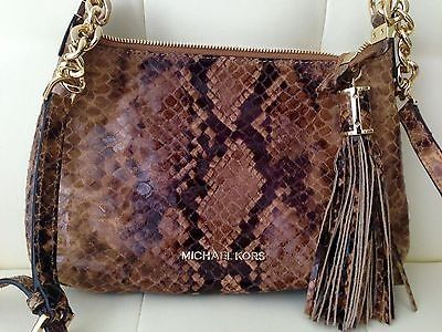 awesome Brand-New Michael Kors Weston Messenger Leather Handbag Crossbody Python Print - For Sale View more at http://shipperscentral.com/wp/product/brand-new-michael-kors-weston-messenger-leather-handbag-crossbody-python-print-for-sale/