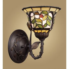 Westmore Lighting Latham W Tiffany Bronze Style Arm Hardwired Wall Sconce