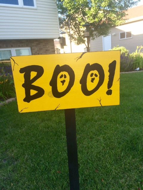 Boo, Ghost Halloween Yard Sign by StormyNightDesigns on Etsy