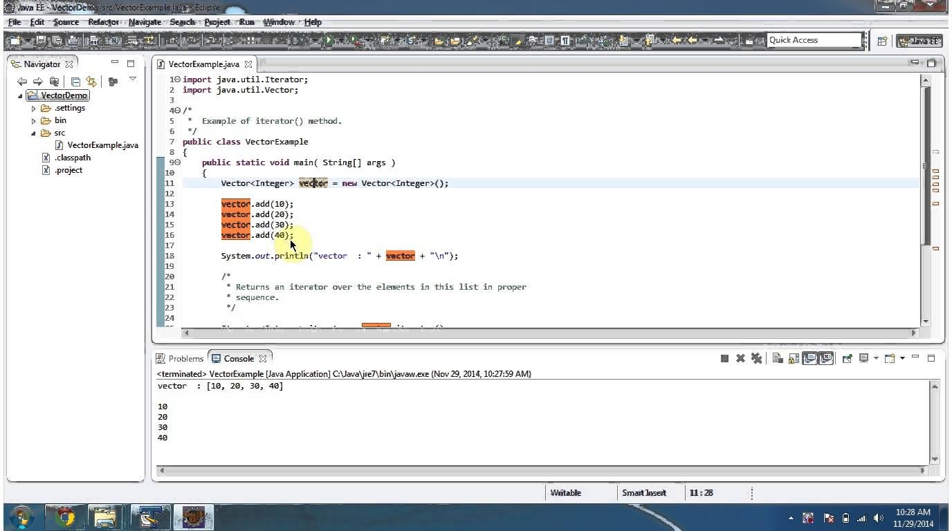 Java Collection Framework Vector Iterator With Images