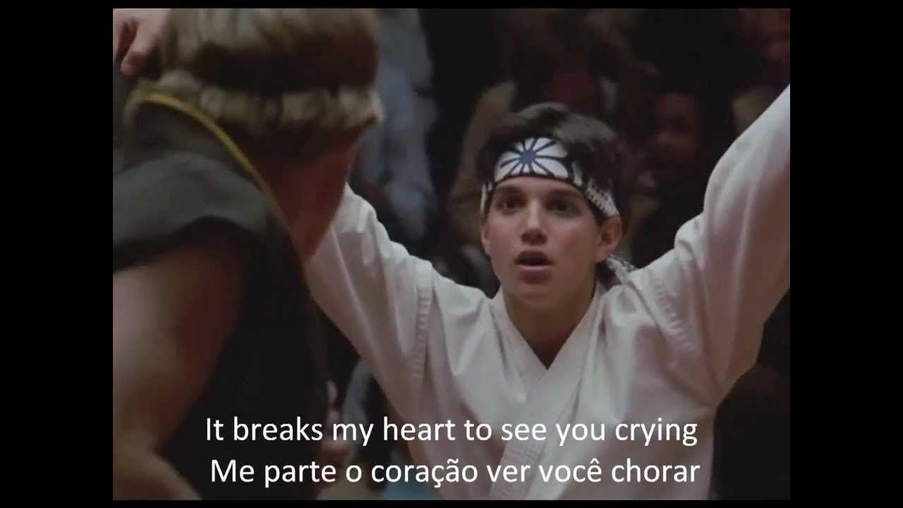 Peter Cetera Glory Of Love Legendado Em Pt Karate Kid Avi The Karate Kid Filme Karate Karate Kid