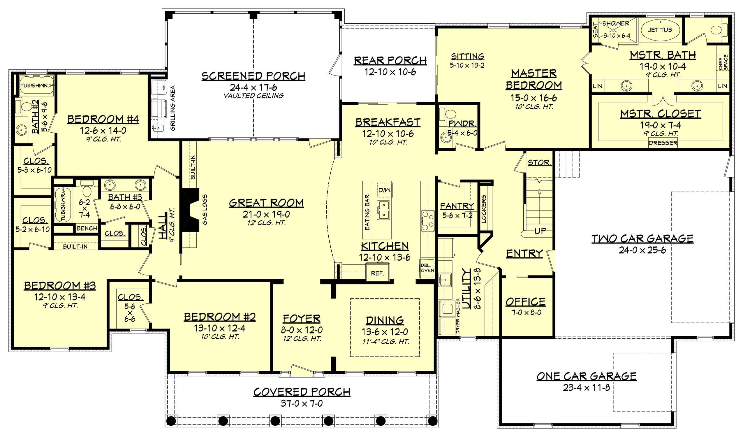 This Traditional Style Home Plan With Country Influences