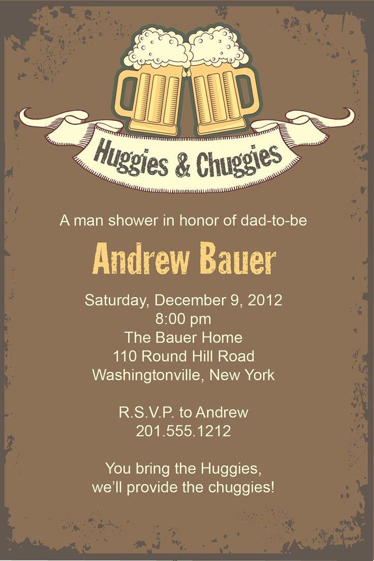 Beer and Babies Invitation HUGGIES u0026