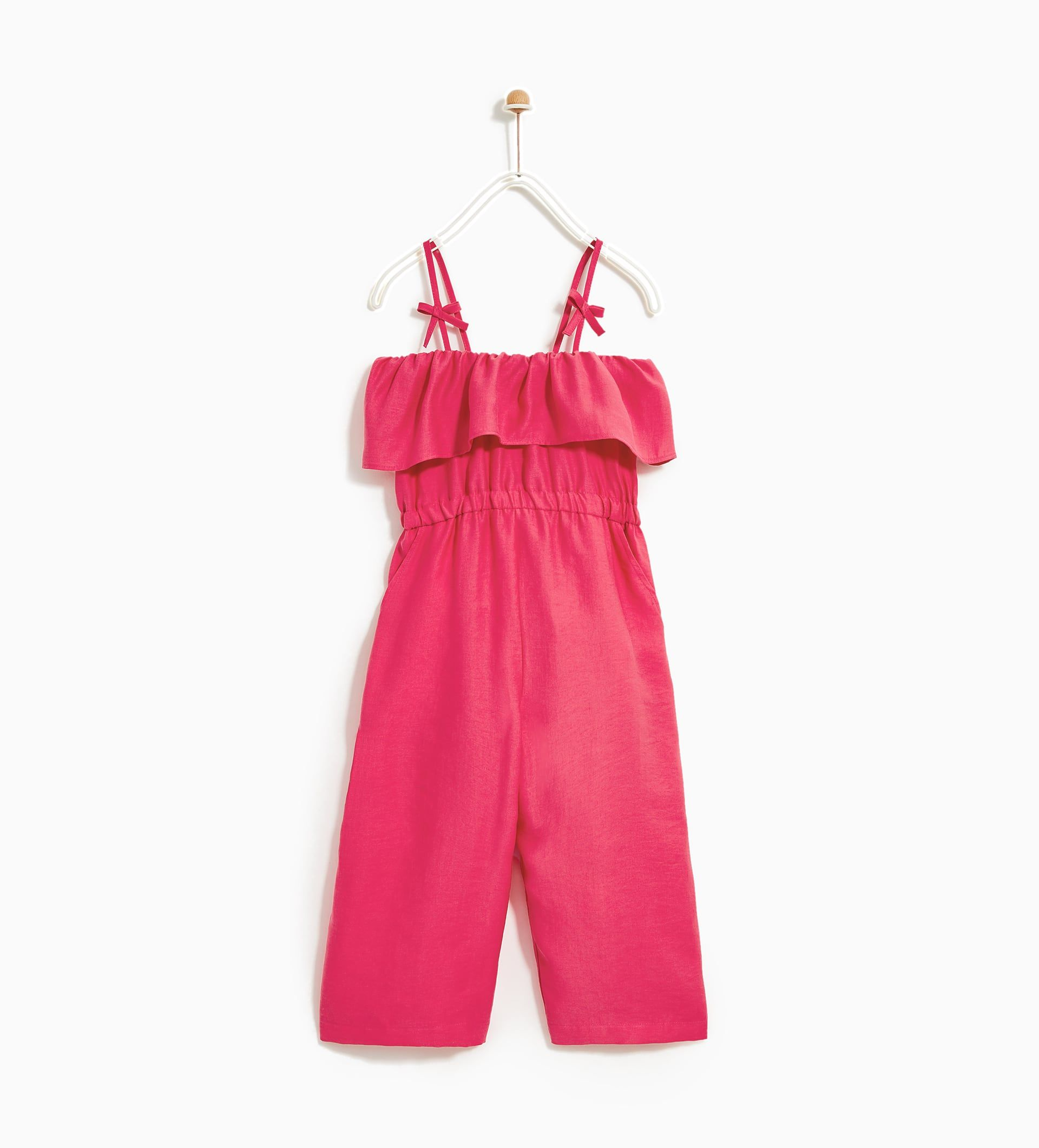 16de78ac67 LONG JUMPSUIT WITH FRILL-NEW IN-GIRL | 4 - 14 years-KIDS | ZARA ...