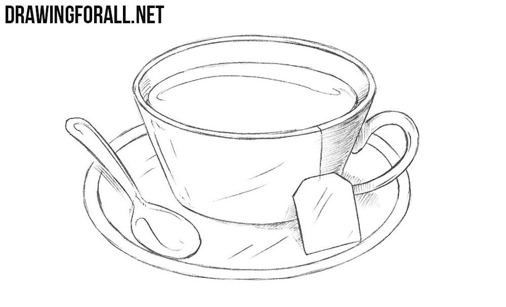 Cup Of Tea Drawing Easy
