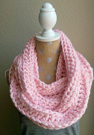Chunky Crochet Scarf-Pink | Tejidos | Pinterest | Tejido