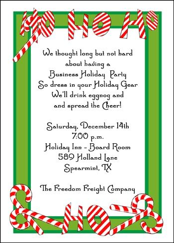 Holiday Invitations Christmas Candy Cane Invitations Holiday Invitations Christmas Party Invitation Wording Christmas Invitations