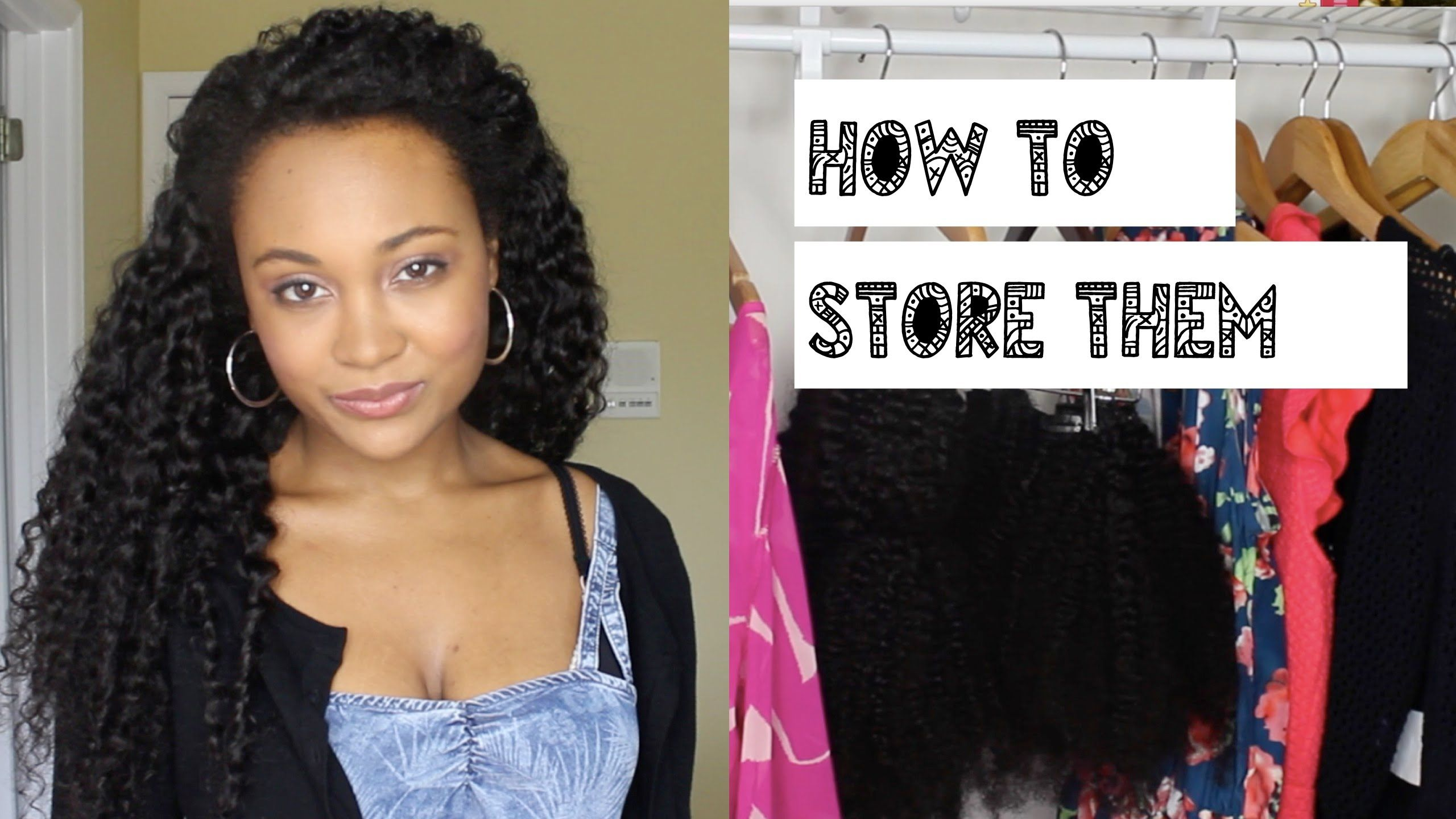 How To Store Hair Extensions Kurly Klips Clip In Extensions Www