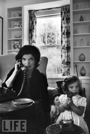 Style icons jackie bouvier kennedy onassis jackie kennedy icons jackie bouvier kennedy onassis with caroline on the phoneg altavistaventures Images