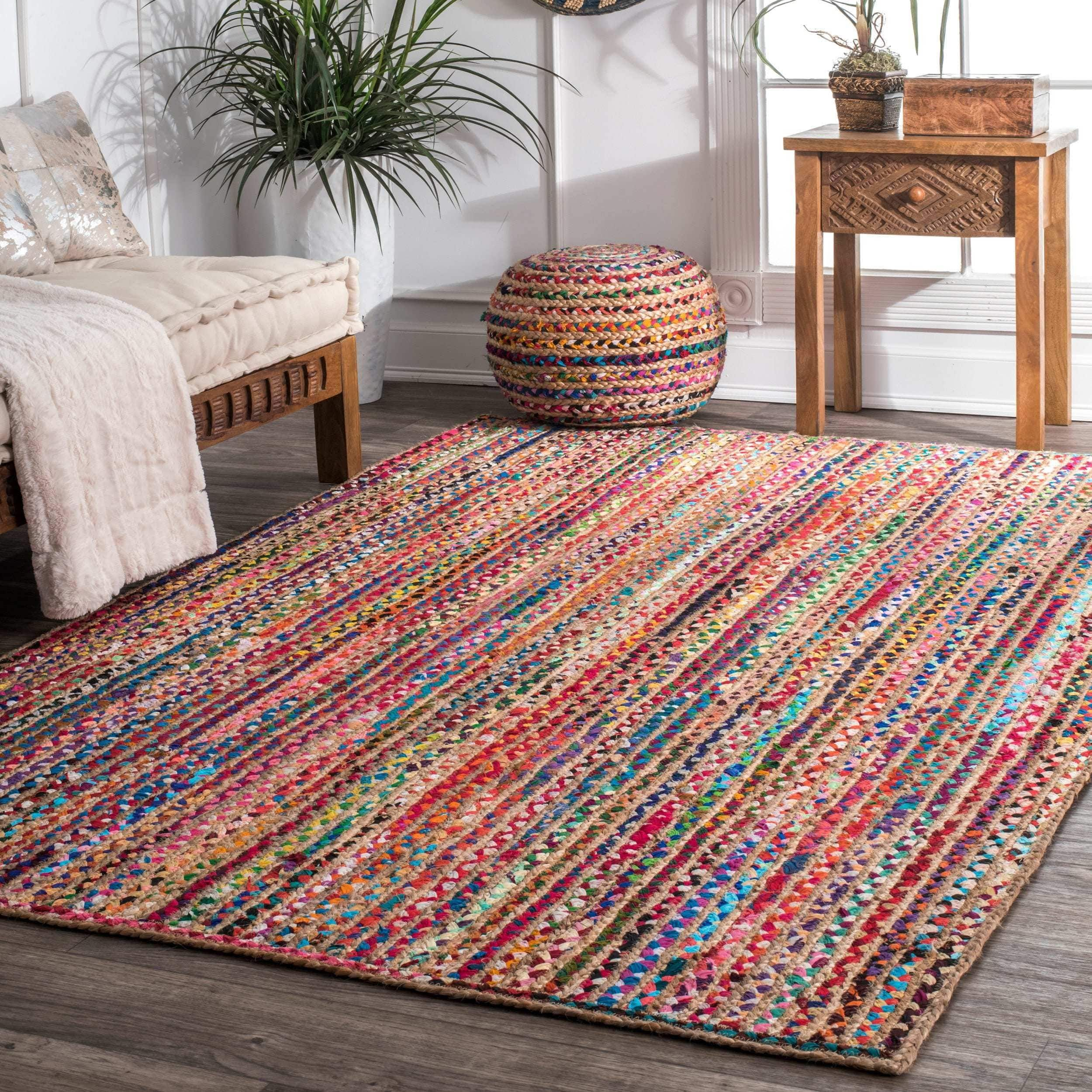 Nuloom Casual Handmade Braided Cotton Jute Area Rug 8 X 10