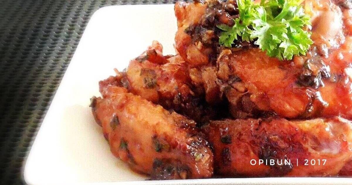 Resep Honey Fire Wings Sayap Panggang Madu Pedas Oleh Opibun Resep Panggang Sayap Ayam Madu