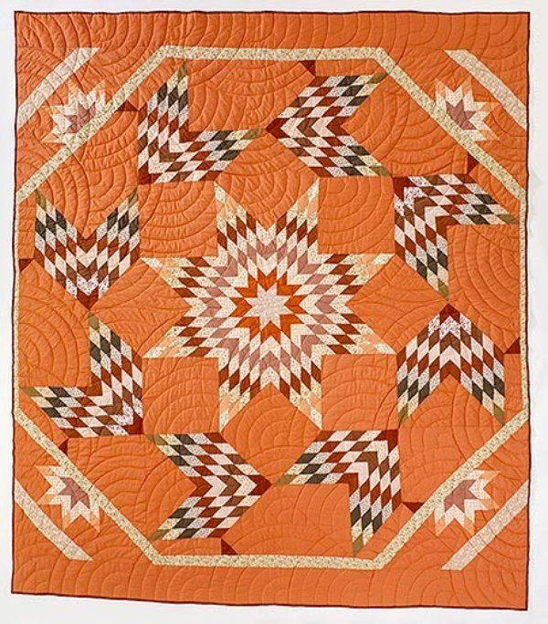 Tribes from the Great Plains used quilts as both a practical replacement of buffalo robes and a storytelling device