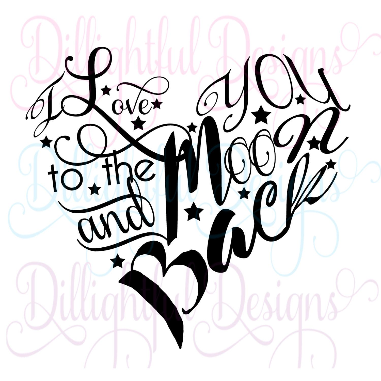 Download Valentine's Decal Love Moon Sweetheart Heart I Love You Be ...