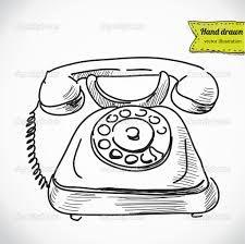 Dibujos De Telefonos Antiguos Y Modernos