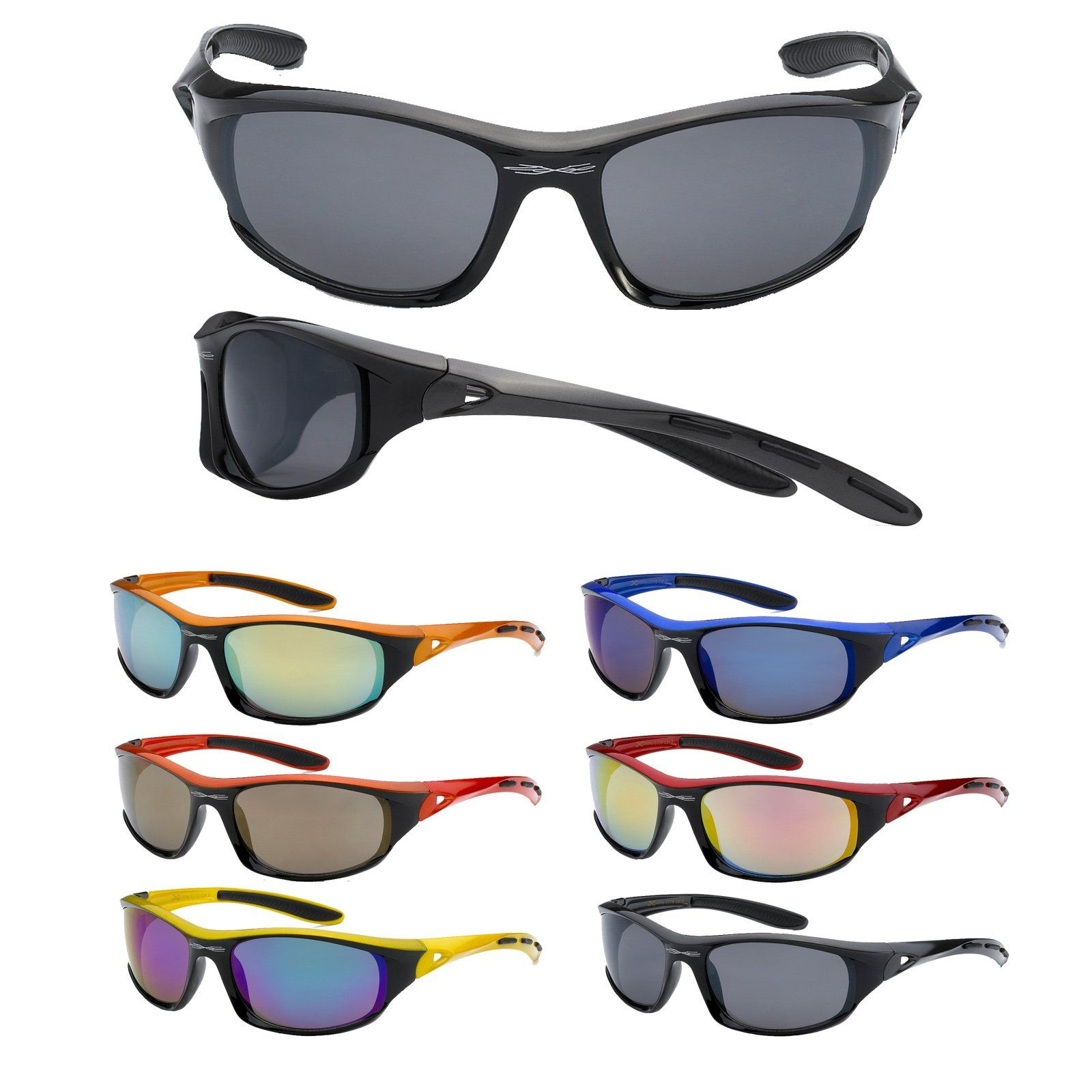 2 Men/'s Half Rim Sport Wrap Sunglasses Running Cycling Glasses UV400 Sun Shades
