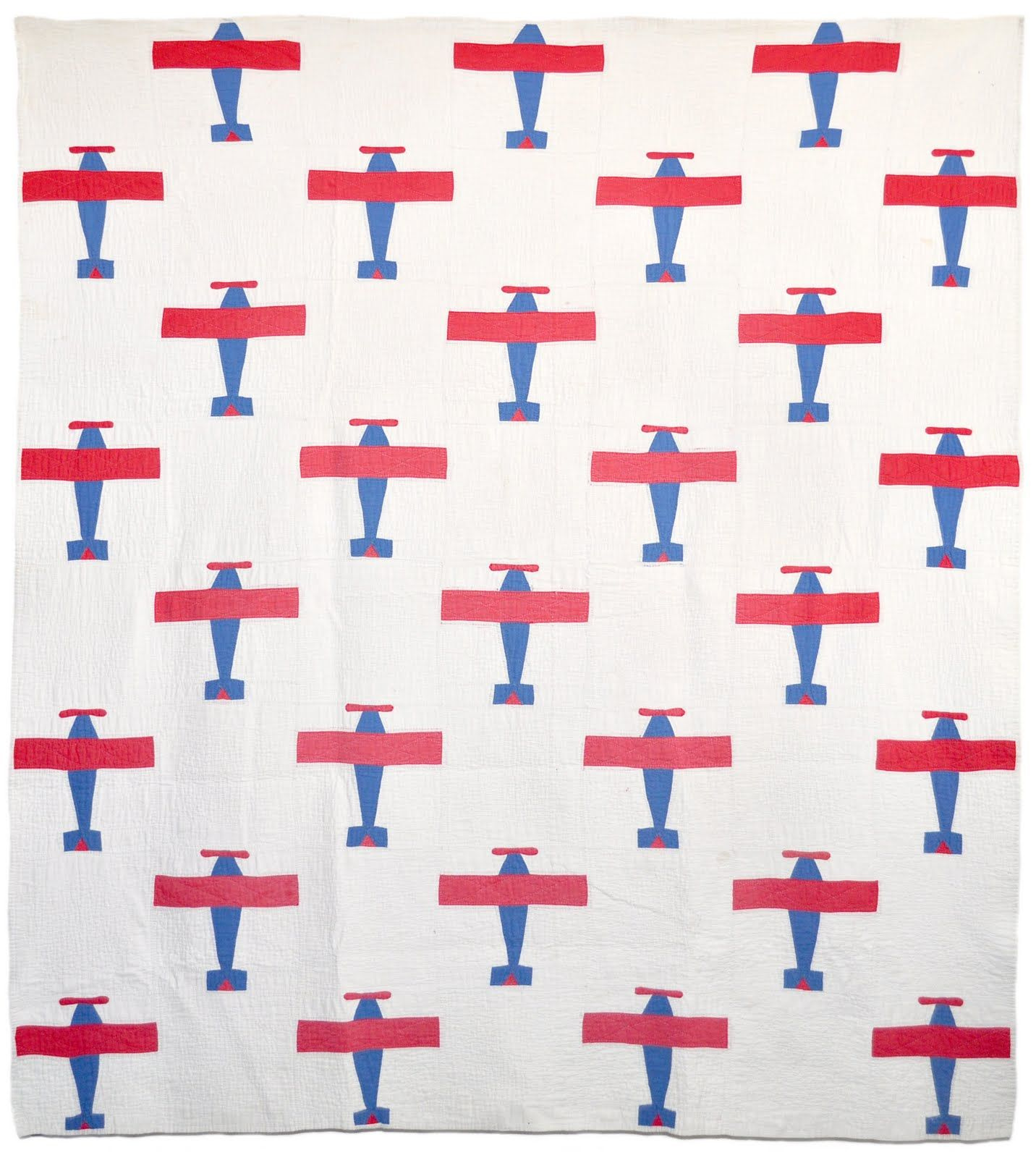 Airplane Quilt C 1940 Quilts Worth Swooning Over