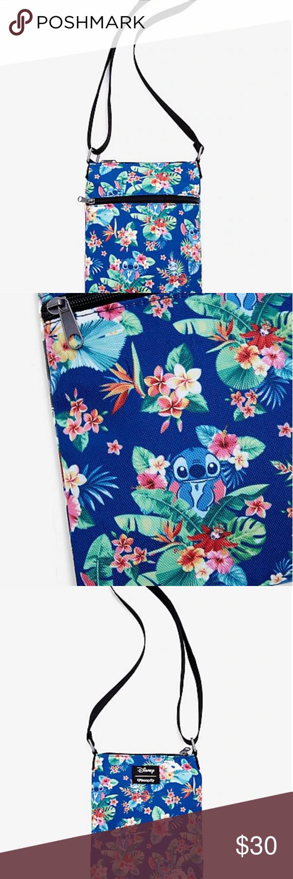 Disney Lilo & Stitch Floral Passport Crossbody Bag  Disney Lilo & Stitch Floral Passport Crossbody Bag #stitchdisney