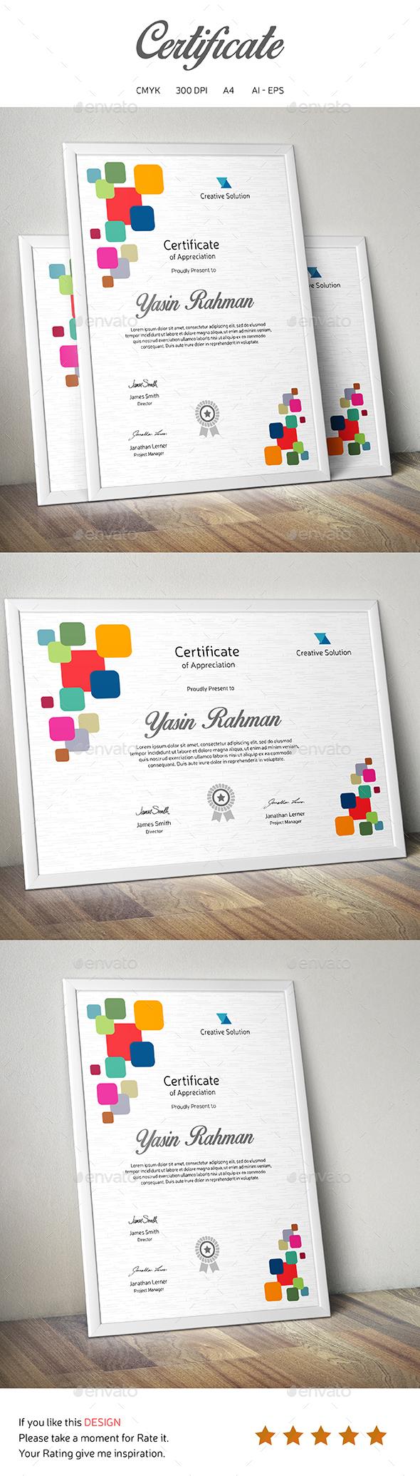 Certificate | Grafiken