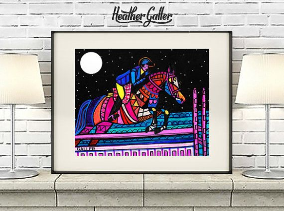 DIGITAL Print File - The Jessie Rose Horse Art Poster Print of painting by Heather Galler (HG72216)