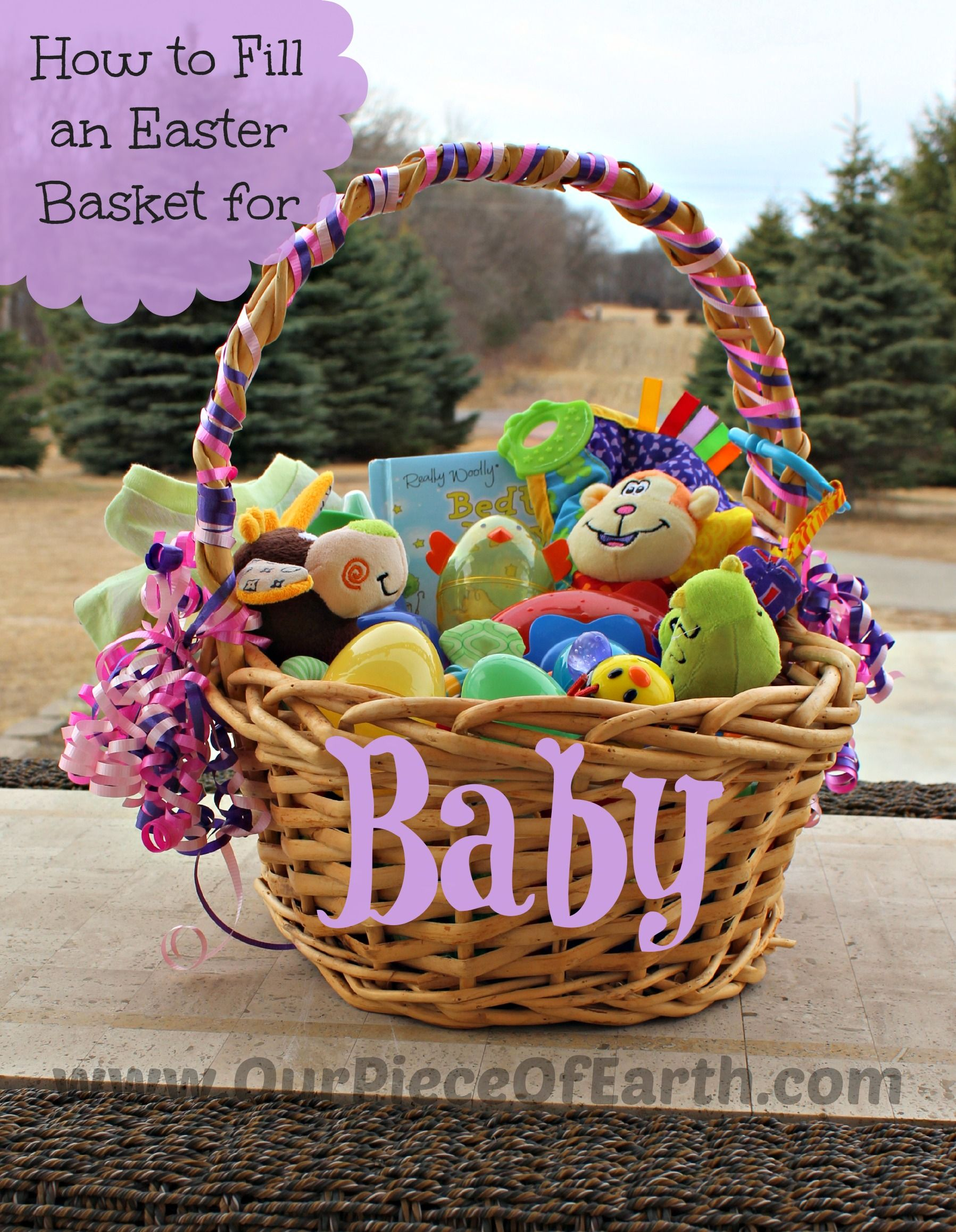 What to put in babys easter basket our piece of earth blog what to put in babys easter basket negle Image collections