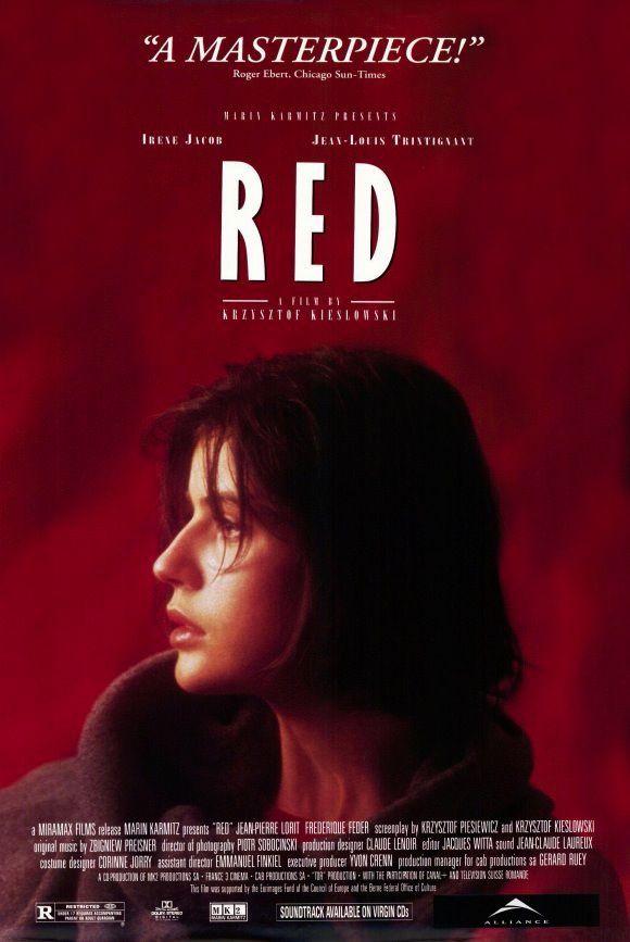 Three Colors Red 1993 Trois Couleurs Rouge Carteles De Cine Cine Cine Frances