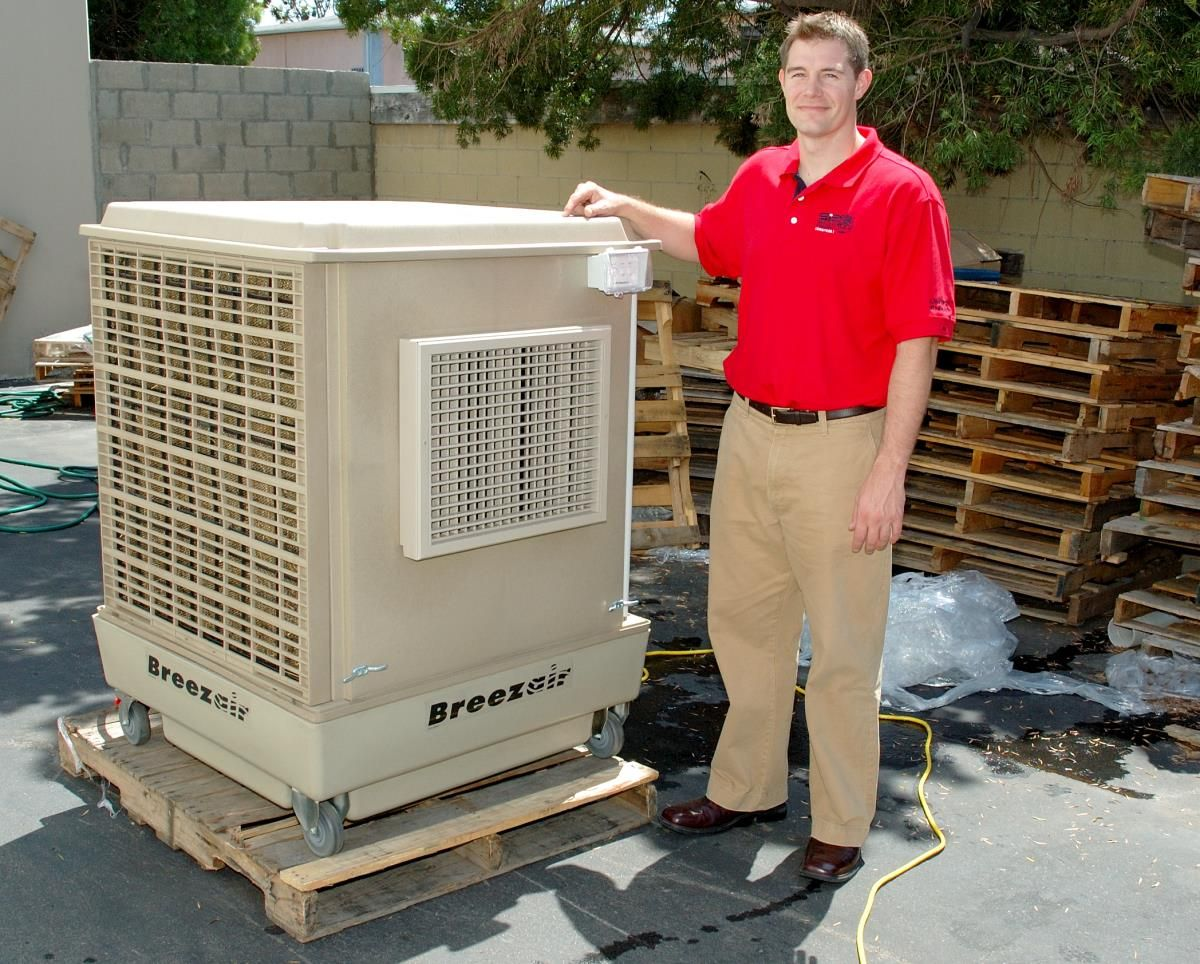 We have seen this Mobile-Max-2 Convair Commercial Swamp Cooler operate  first hand at our warehouse and can attest that with the 3 sided pads and  super ...