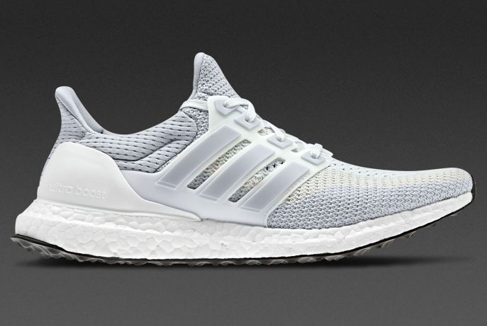 adidas Ultra Boost - Mens Shoes - White / Clear Grey / Core Black