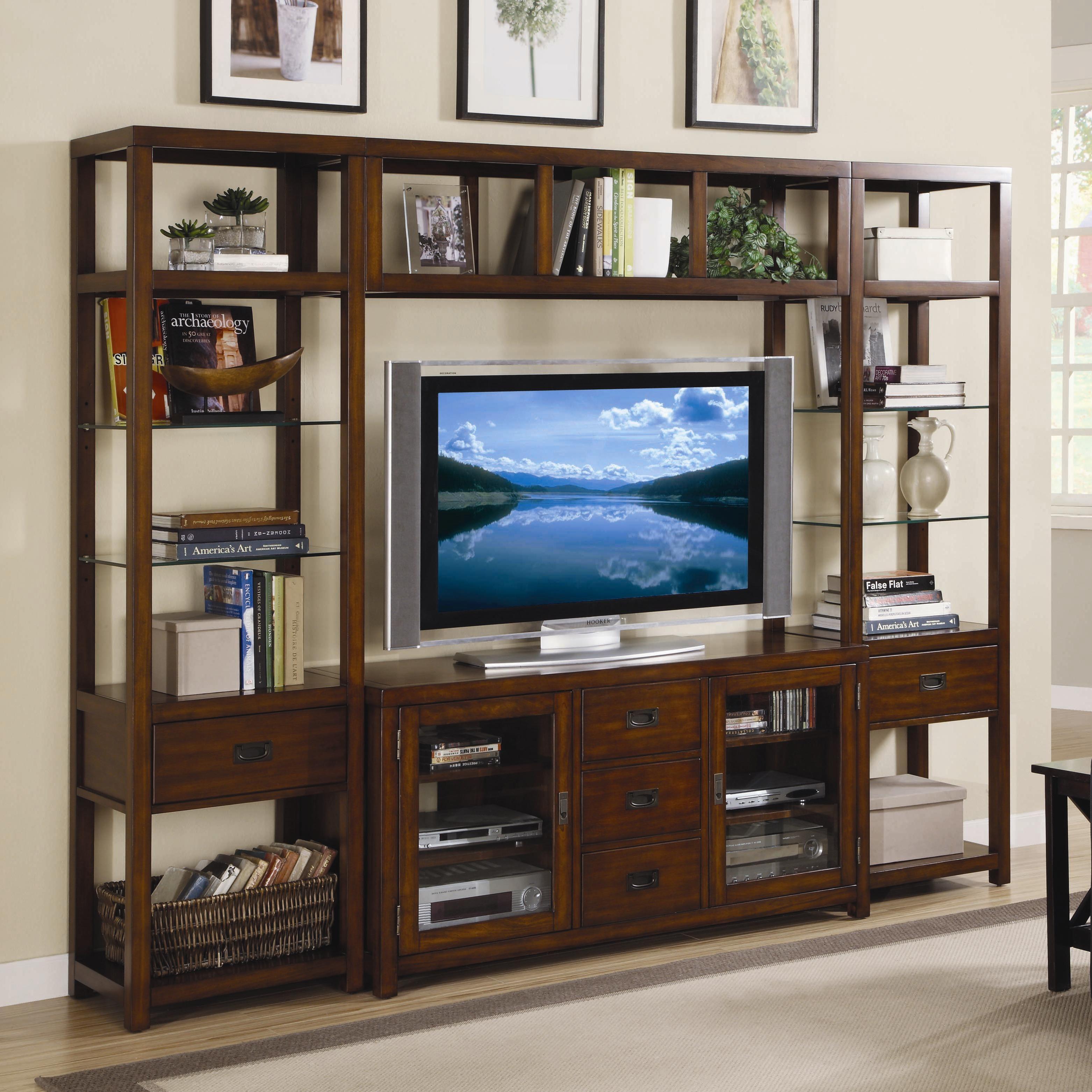 Danforth Open Entertainment Wall Unit by Hooker Furniture   Hooker ...