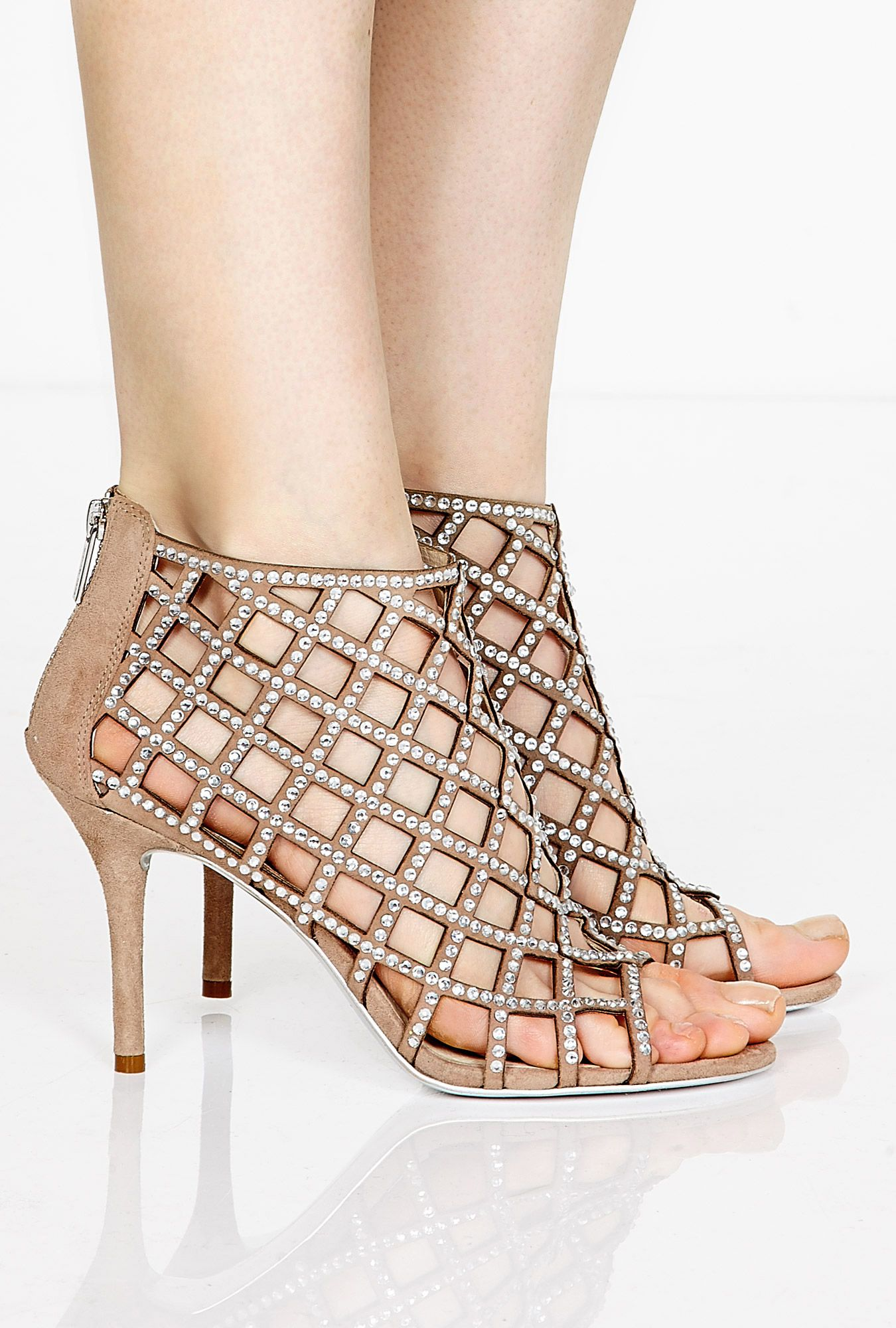 Mushroom Yvonne Caged Shoe Boots By MICHAEL Michael Kors