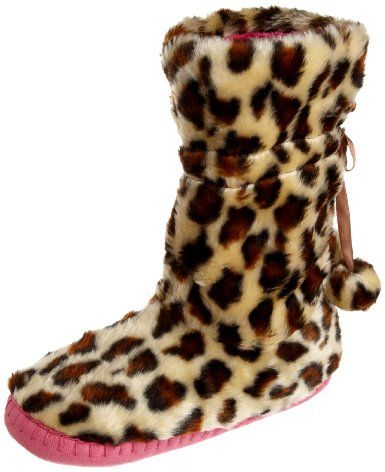 673d22a7b69 Betsey Johnson Women's Flirty Faux Fur Slipper Boot: Clothing- my ...