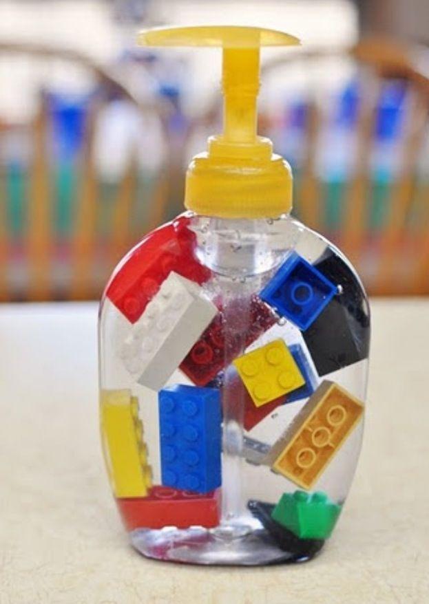 Hand Sanitizer For Your Lego Party Jabon De Lego Banos Para