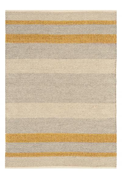 Flatweave Stripe Rug - Mustard
