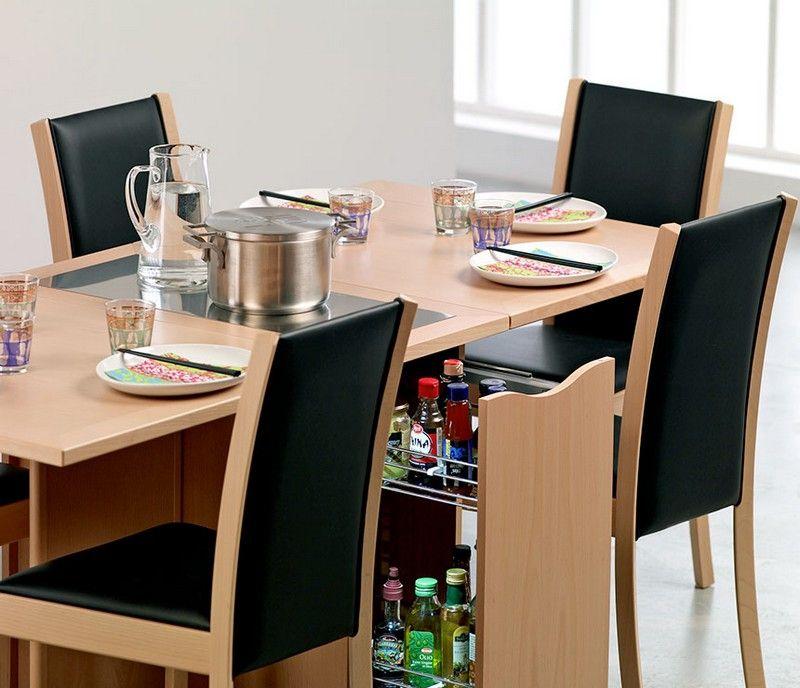 Table Gain De Place Pliante Rabattable Ou Gigogne Petite Salle A Manger Salle A Manger Minimaliste Table Gain De Place