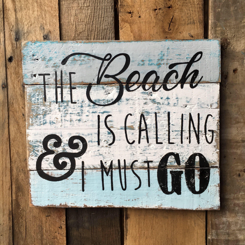 Wooden Beach Decor Signs